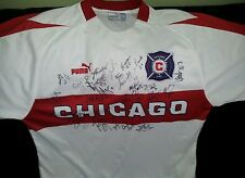 CHICAGO FIRE TEAM AUTHENTIC SIGNED  MLS PUMA  SOCCER JERSEY