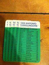 (5) 1984 San Antonio Gunslingers USFL Football Pocket Schedule Vintage Rare QTY