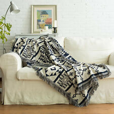 Woven Blanket Throw Over Fringe Tassel Sofa ChairBed Soft Warm Tablecloth Cotton