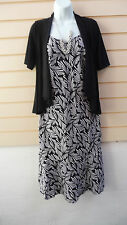 REDUCED LADIES BLACK & WHITE PARTY  DRESS & JACKET / NECKLACE SIZE 10 BNWT
