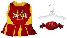 NCAA Iowa State Cyclones Cheerleader Dress (MD) with Pet Hanger and Rope Dog Toy