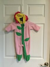 Old Navy Baby Size 6 - 12 Months Flower Hood Zipper Closure -