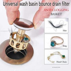 Universal Wash Basin Bounce Drain Filter Pop Up Bathroom Sink Drain Plug 35mm..