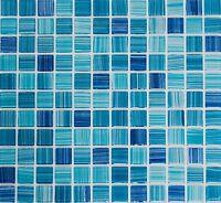 Glasmosaik blau türkis Mosaikfliese in 25x25x4mm Bad Dusche Art: 64-0409_f | 1qm