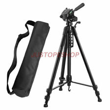 JUSTOP Professional Pan Tilt Head DSLR Travel Tripod For Canon Nikon Sony Camera