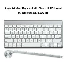 New Apple Wireless Bluetooth Keyboard Aluminum iMac Mac Mini A1314 MC184LL/B AA