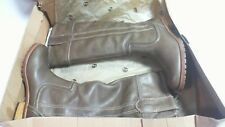 """Timberland Brogue Leather Pull On Knee High Boots Taupe Size 4 - 1"""" Heel #24D141"""