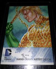 Rhiannon Owens Aquaman 1/1 Cryptozoic DC Comics The New 52 Sketch Card