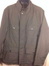 Mens Coach Grey Nylon Zip Down Hidden Hooded Field Jacket~83615~Med~NWT $498