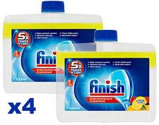 Finish Dishwasher Cleaner Lemon 4 x 250ml Bottles Descales Your Dishwasher