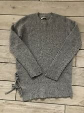 AllSaints Lace Jumper Knit Small S UK 8-10 Grey Wool Cotton RRP £76