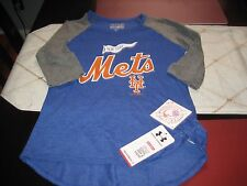YOUTH GIRLS UNDER ARMOUR NEW YORK METS SHORT SLEEVE T SHIRT YMD M MEDIUM NWT