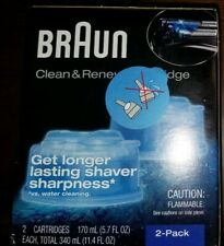 Braun Clean and Renew Cartridges 2 Pack