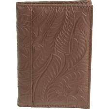 Brown Genuine Leather Embossed US PASSPORT COVER Organizer New. FREE Shipping