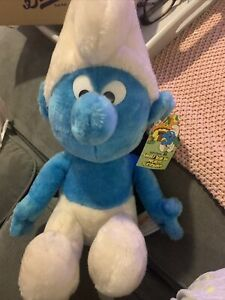 Vintage Smurf Bean Bag Plush With Tags