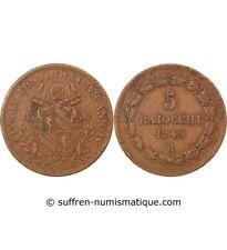 VATICAN, PIUS IX - 5 BAIOCCHI 1849 ROME
