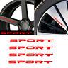 4x Red SPORT Style Car Door Rims Wheel Hub Racing Sticker Graphic Decal Decor