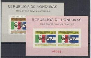 Honduras Block 9 +10 Olympic Games Mexico (MNH)