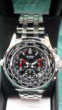 SEKONDA MEN'S(3432) WORLD TIME CHRONOGRAPH WATCH~ NEW IN BOX ~NO RESERVE