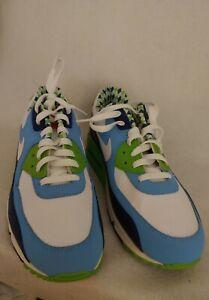 Men Nike Air Max 90 'Lacrosse' Blue Green Athletic Shoe Size 10.5 325018 134