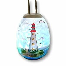 Banberry Designs Light House Ornament - Lighted Globe with Hand Painted Design -