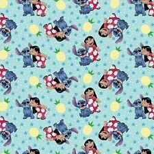 """1 yard Disney Lilo & Stitch """"Ohana Means Family""""  Fabric"""