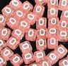 100pcs colorato 6mm cubetti acrilico lettera/alfabeto perline