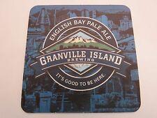 Beer Coaster ~ GRANVILLE ISLAND Brewing English Bay Pale Ale ~ Vancouver, CANADA