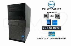 Dell Optiplex 790 Tower i5-2400 8GB RAM 500GB HDD 120 / 240GB SSD Win10 Pro