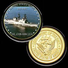 USS John Hancock (DD-981) GP Challenge pinted Coin