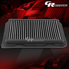SILVER WASHABLE HIGH FLOW AIR FILTER PANEL FOR 09-17 TOYOTA COROLLA 07-17 YARIS