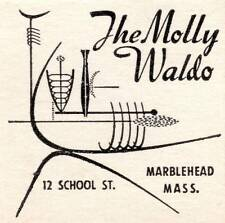 Old Print. The Molly Waldo, Marblehead Mass - matchbook cover ad
