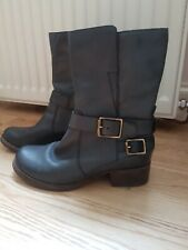 Clarks Grey Leather Boots size 5