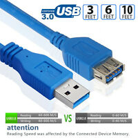 Premium® USB 3.0 Extension Cable Type A Male To Female Cord Super Speed 5Gbps PC