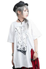 punk visual anime Possessed doll eyeball specimen baggy long tshirt【JAG0012】
