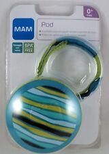 MAM POD Portasucchietto porta ciuccio x 2 succhietti colore azzurro verde stripe