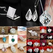 Women Fashion 925 Silver Pendant Necklace Chain Wedding Jewelry Gift