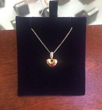 Heart 9 Carat Yellow Gold Fine Diamond Necklaces & Pendants