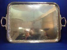 GRAND PLATEAU DE SERVICE ART NOUVEAU 5.5 KG EN ARGENT MASSIF AVEC ARMOIRIES