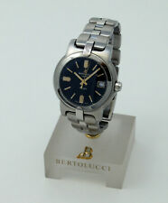 Bertolucci Uomo Stainless Steel Watch with Black Dial  824.55.41.20D