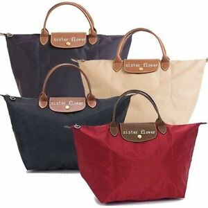 Women's Ladies Designer Folding Nylon Tote Handbag Shopper Bag Summer Beach Bag