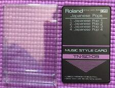 Roland Music Style Card Japanese Pops TN-SC1-09