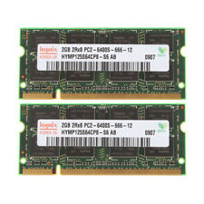 Hynix 2X 2 GB RAM Kit 2Rx8 PC2-6400 Memory SO-DIMM Laptop CPU DDR2 800Mhz 200Pin