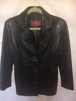 KATIANA K COUTURE jacket, genuine leather, black, Sz S - C1