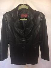 KATIANA K COUTURE jacket, genuine leather, black, size S