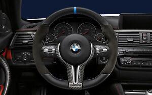 OEM BMW M Performance V2  F87 M2 F80 M3 M4 Alcantara Steering Wheel- 32302413014