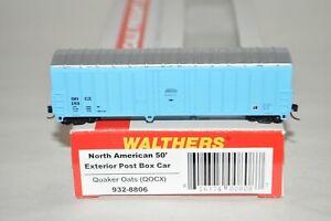 N scale Walthers Quaker Oats 50' NACC plug door box car train w/ MTL's