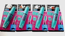Maybelline Volume Express Mega Plush Mascara Waterproof Brownish Black Lot of 4