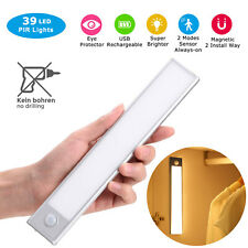 USB Rechargeable LED Closet Light Motion Sensor Wardrobe under Cabinet Lighting