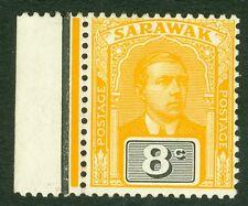 SG 54 Sarawak 8c yellow & black. Pristine unmounted mint CAT £17